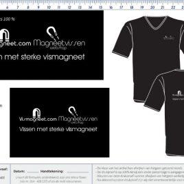 Vismagneet t-shirt, magneetvissen t-shirt, vismagneet kledij, magneetvissen kledij